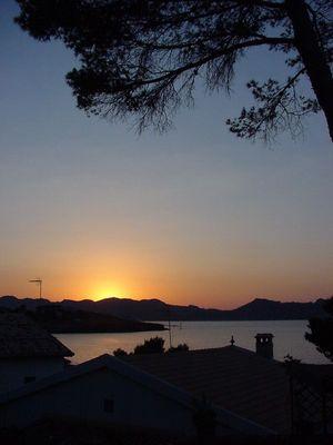 Sonnenuntergang in Alcudia, Spanien