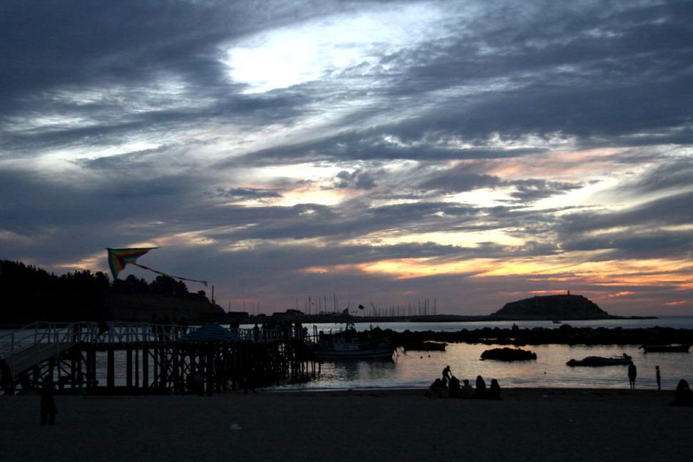 Sonnenuntergang in Algarrobo - Chile