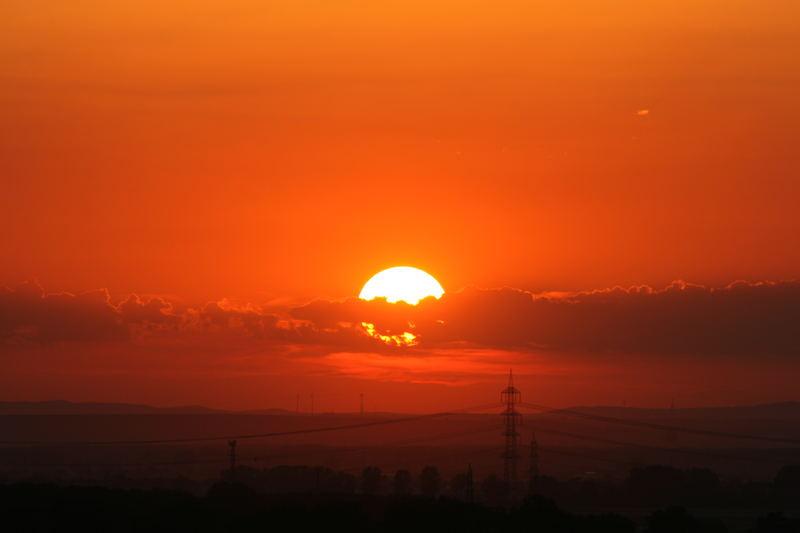 Sonnenuntergang in Alsbach(Hessen)