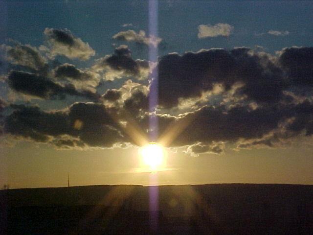 Sonnenuntergang in Annaberg