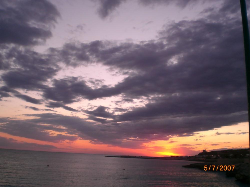 Sonnenuntergang in Apulien