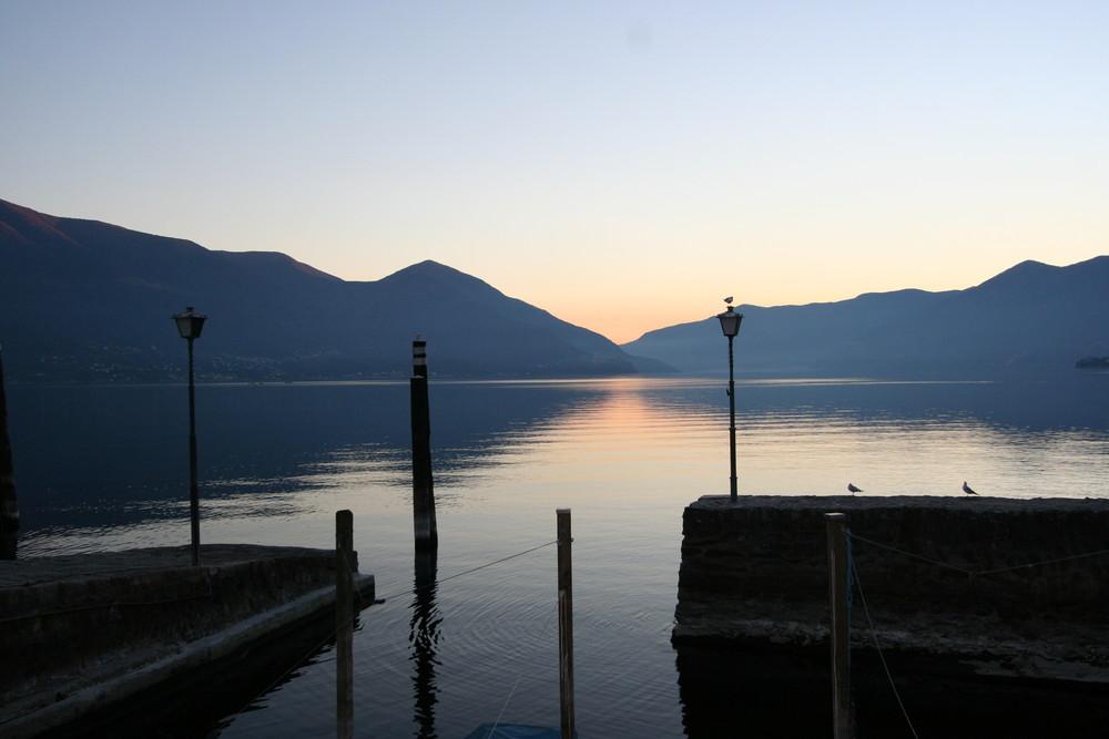 Sonnenuntergang in Ascona