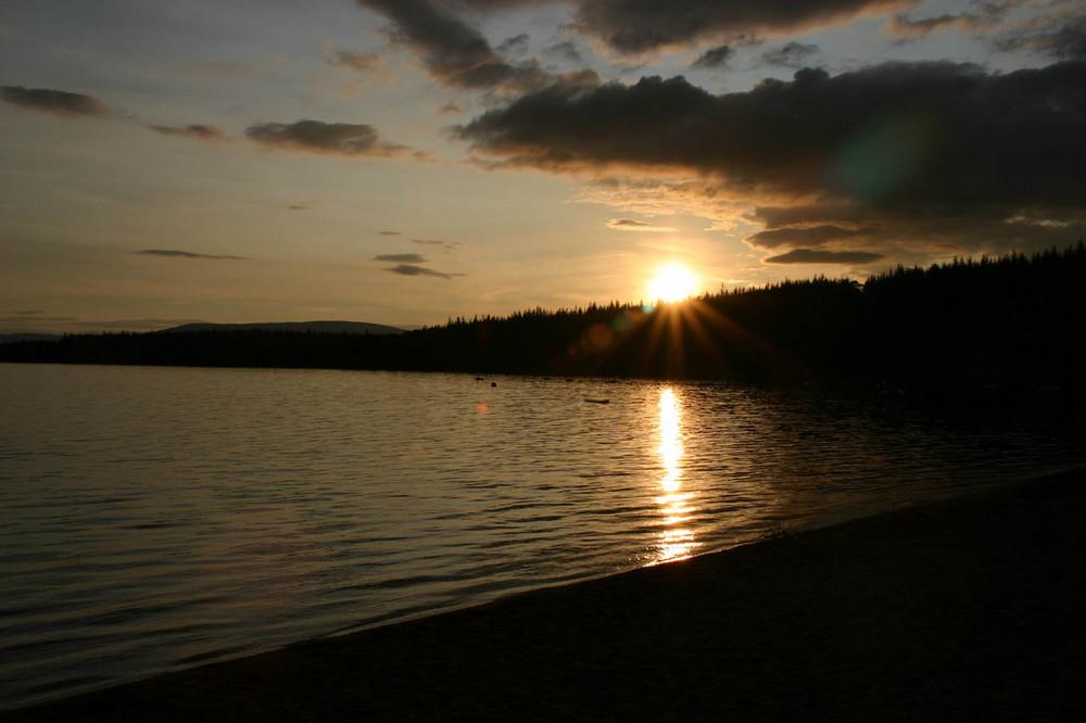 Sonnenuntergang in Aviemore (SCO)