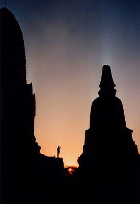 Sonnenuntergang in Ayuthaya