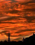 Sonnenuntergang in Bad Dürkheim......