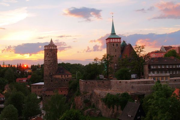 Sonnenuntergang in Bautzen