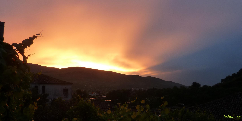 Sonnenuntergang in Berat/Albanien