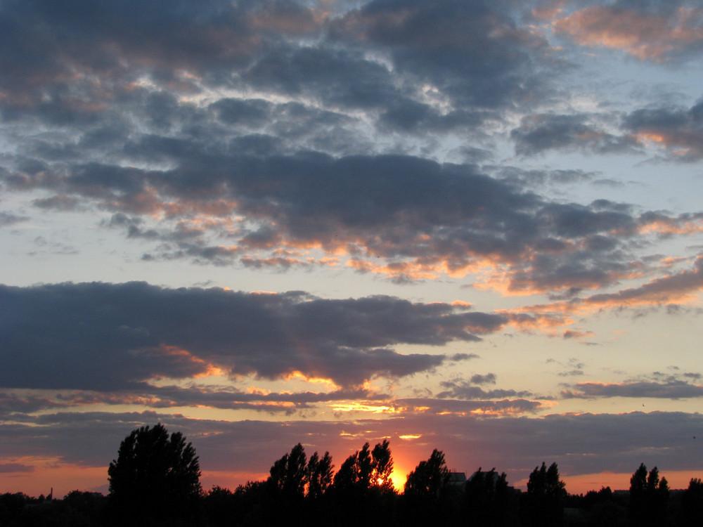 Sonnenuntergang in Berlin Reinickendorf 3