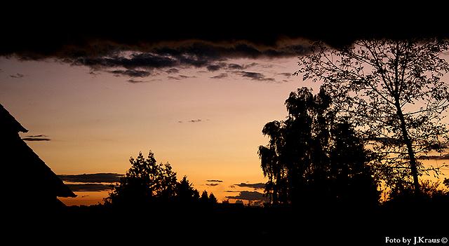 Sonnenuntergang in Bielefeld/Oerlinghausen