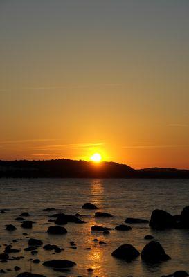 Sonnenuntergang in Binz