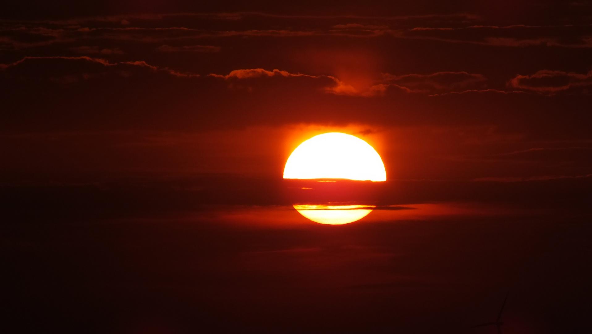 Sonnenuntergang in Bitterfeld 3
