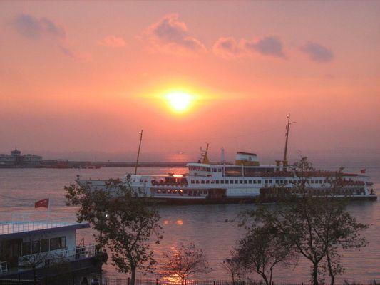 Sonnenuntergang in Bosporus