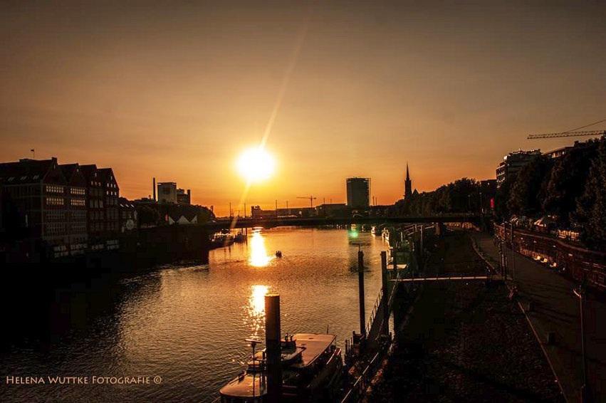 Bremen Fotografie sonnenuntergang in bremen foto bild kunstfotografie kultur