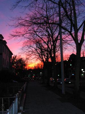 Sonnenuntergang in Bremen