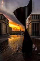 Sonnenuntergang in Brüssel