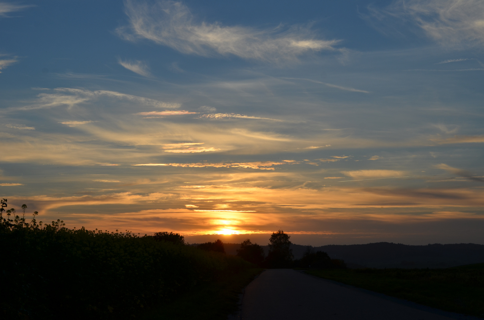 Sonnenuntergang in Bühlertann