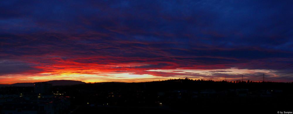 Sonnenuntergang in Bülach