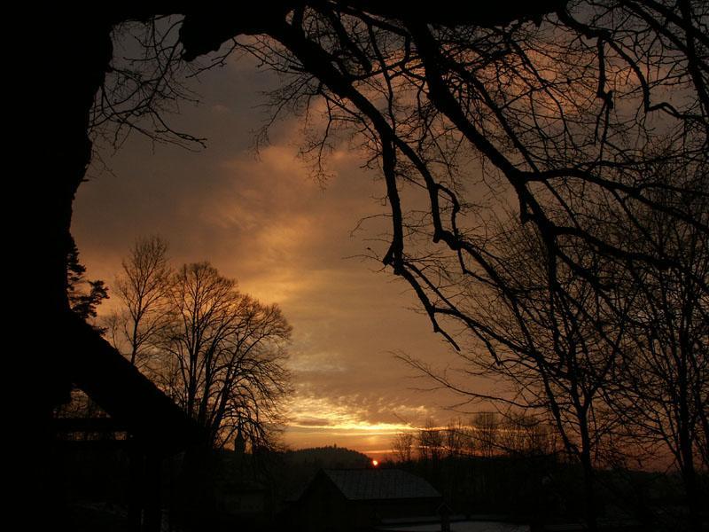 Sonnenuntergang in Burgdorf