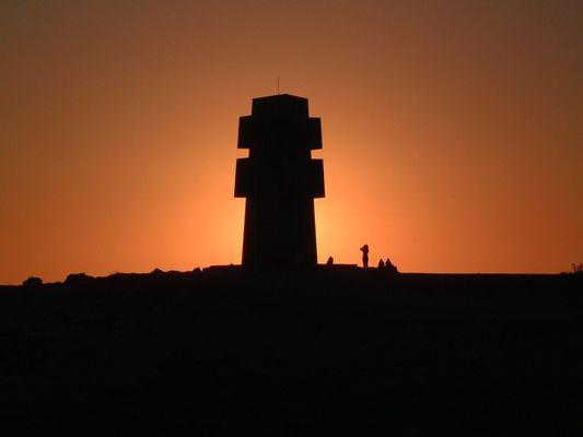 Sonnenuntergang in Camaret sur mer in Frankreich