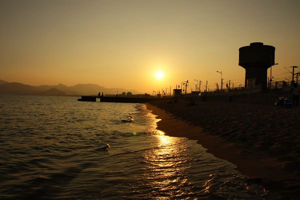 Sonnenuntergang in Cannes