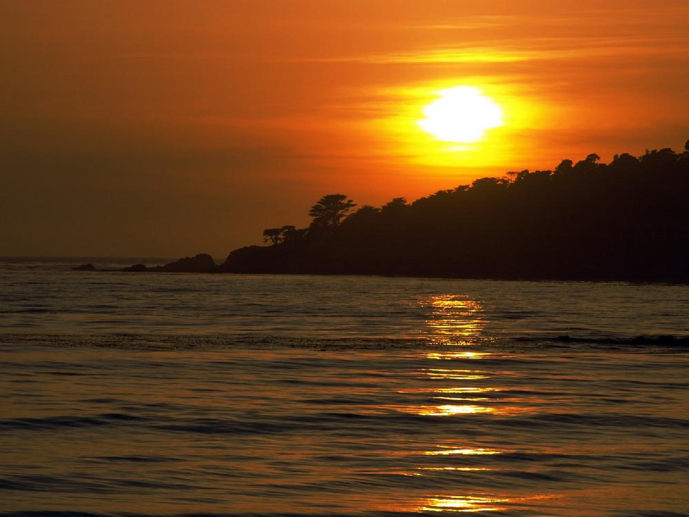 Sonnenuntergang in Carmel-by-the-sea