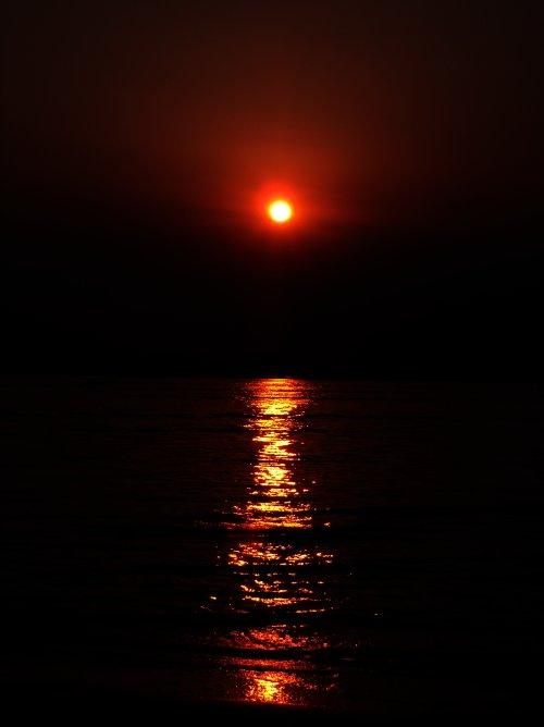 Sonnenuntergang in Cavallino / Italien