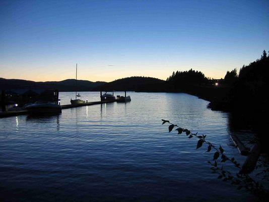 Sonnenuntergang in Ceur D'Alene