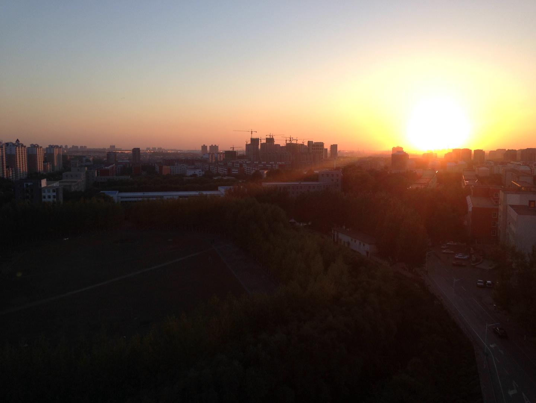Sonnenuntergang in Changchun China