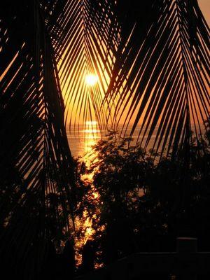 Sonnenuntergang in Chivirico
