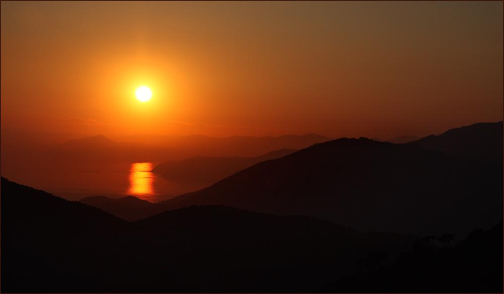 Sonnenuntergang in Cinque Terre