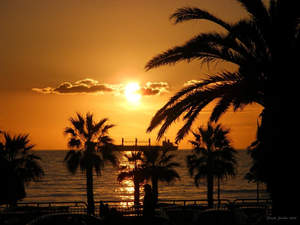 Sonnenuntergang in Civitavecchia