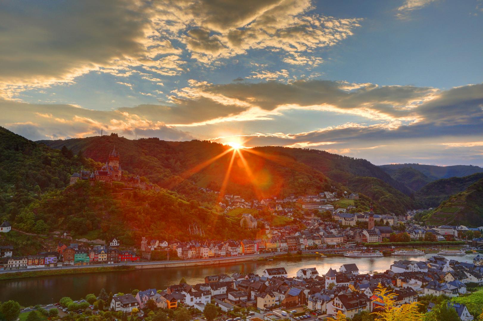 Sonnenuntergang in Cochem