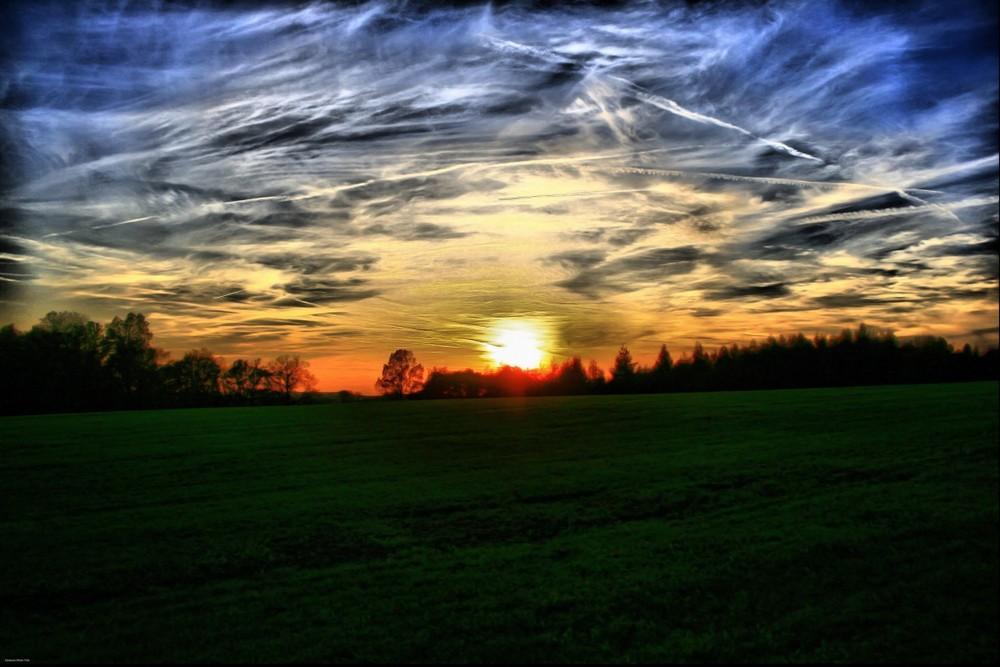 Sonnenuntergang in coschütz