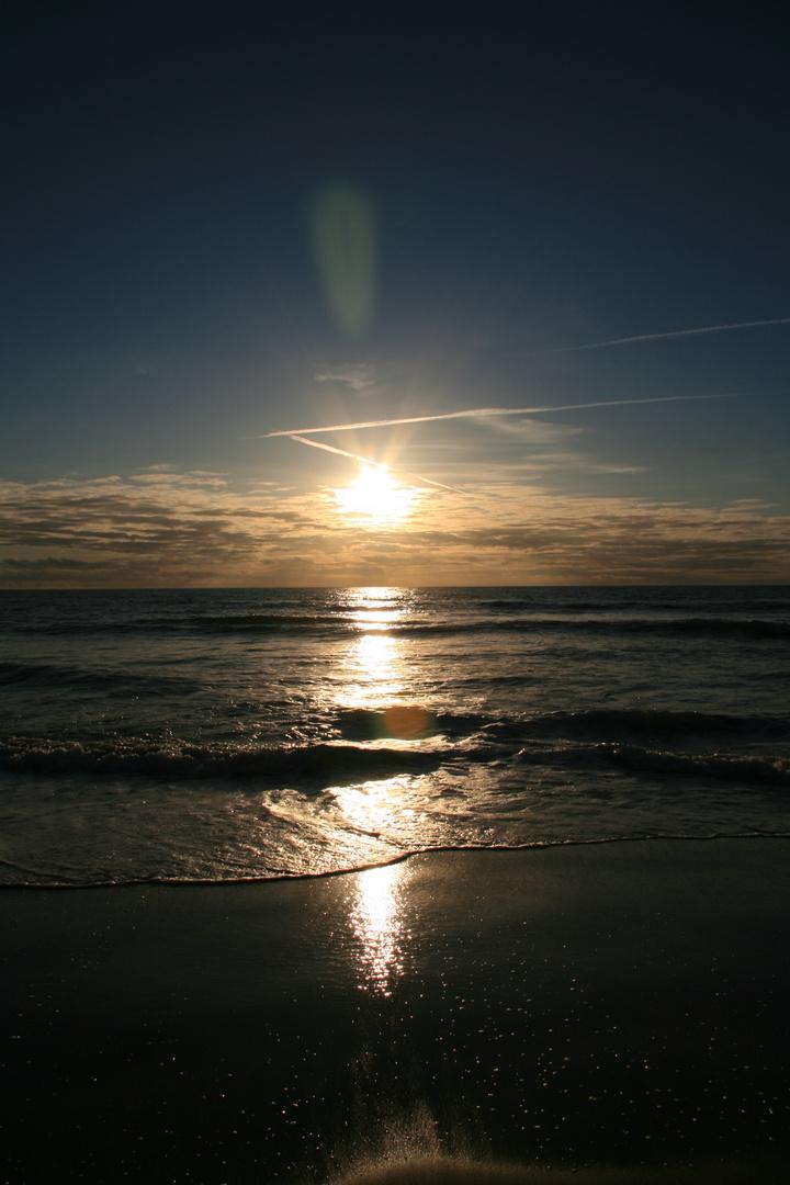 Sonnenuntergang in Dänemark