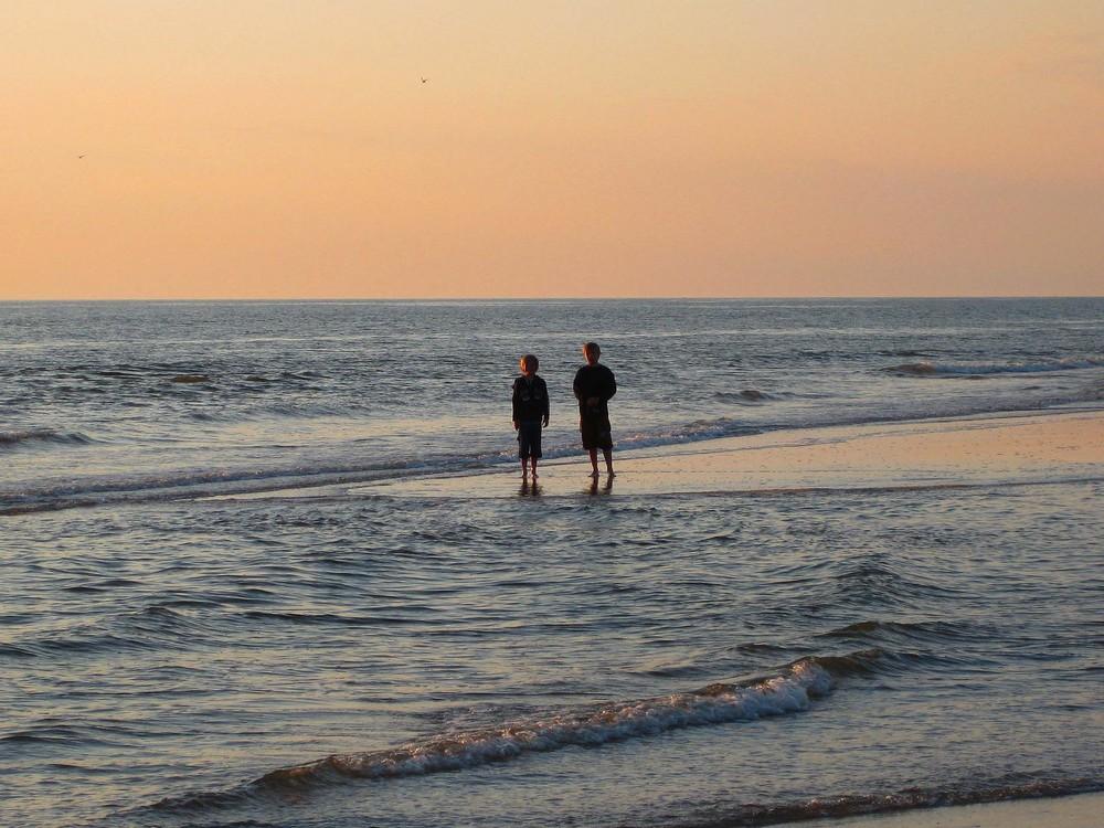 Sonnenuntergang in Dänemark / Henne Strand 2