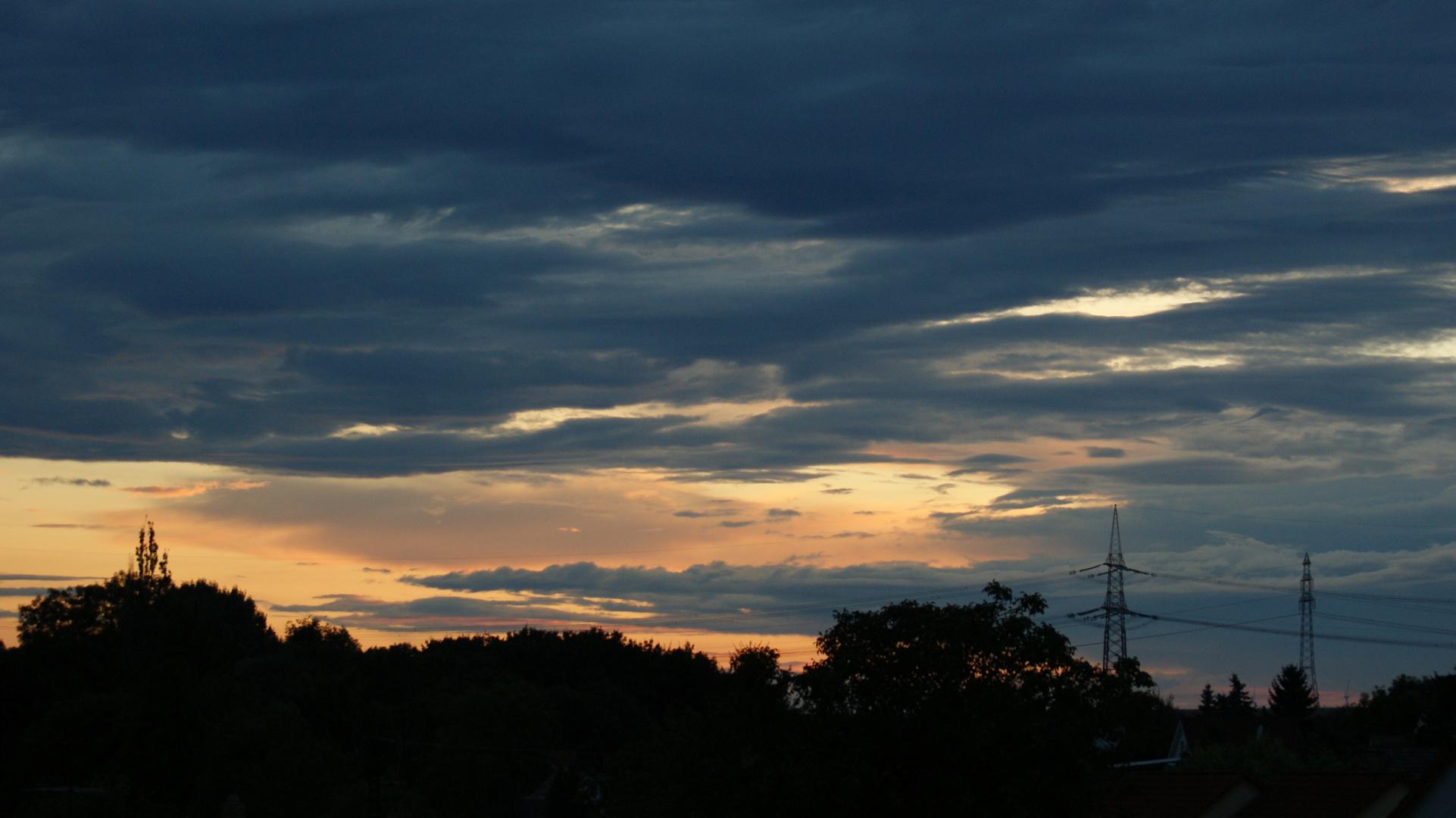 Sonnenuntergang in Delitz am Berge