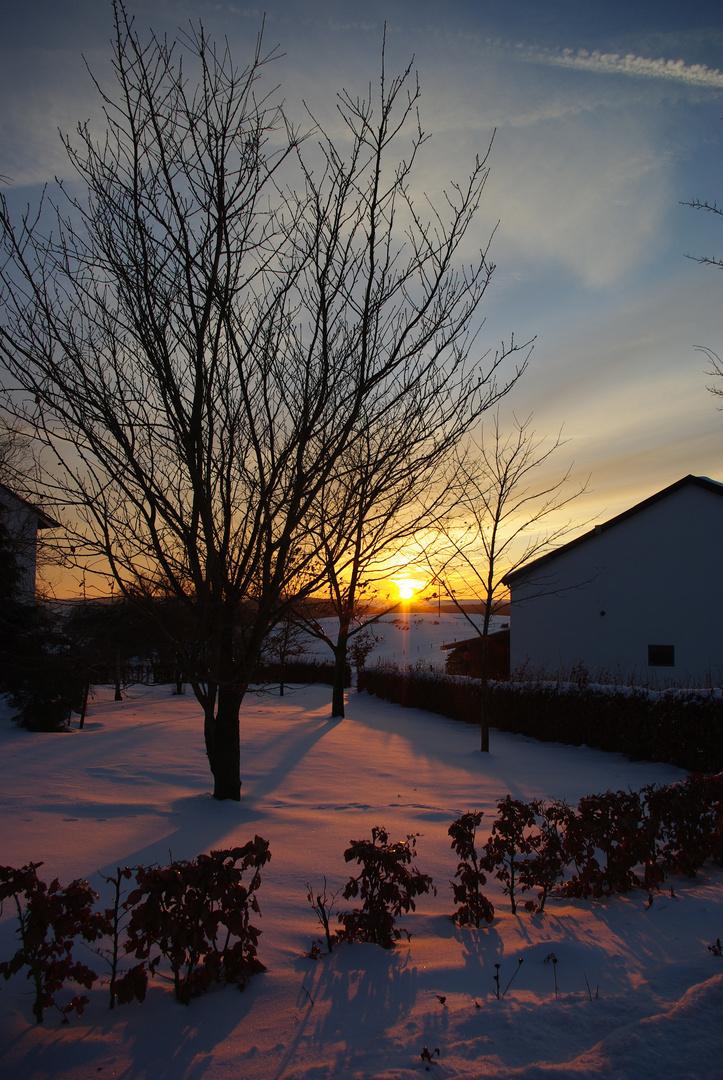 Sonnenuntergang in den Ardennen