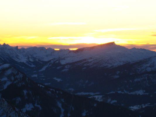 Sonnenuntergang in den Bergen - Sonthofen