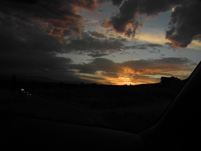 Sonnenuntergang in den Bergen von Utah