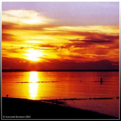 Sonnenuntergang in den Flittertagen