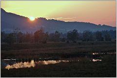Sonnenuntergang in den Kendelmühlfilzen