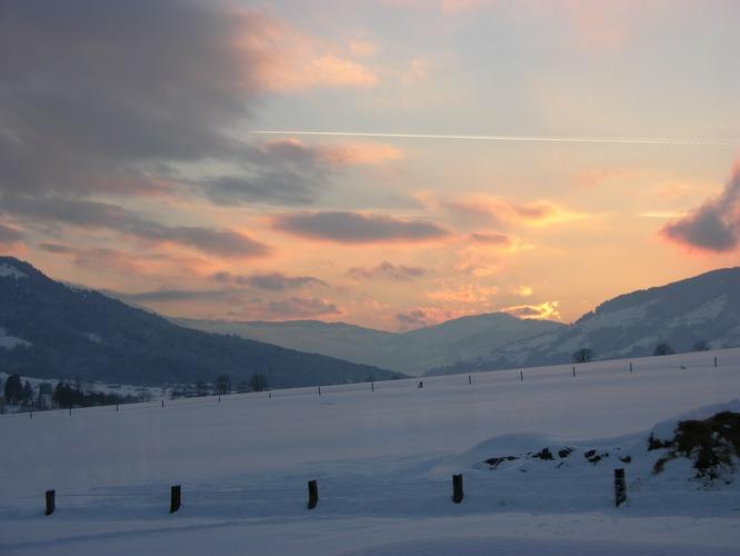 Sonnenuntergang in den Kitzbüheler Alpen