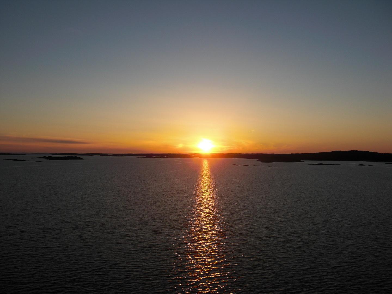 Sonnenuntergang in den Schären vor Stockholm