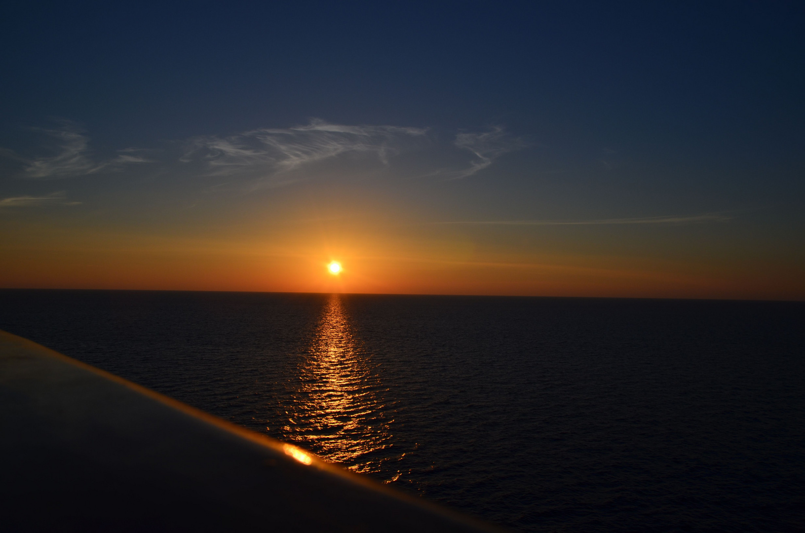 Sonnenuntergang in der Adria.....