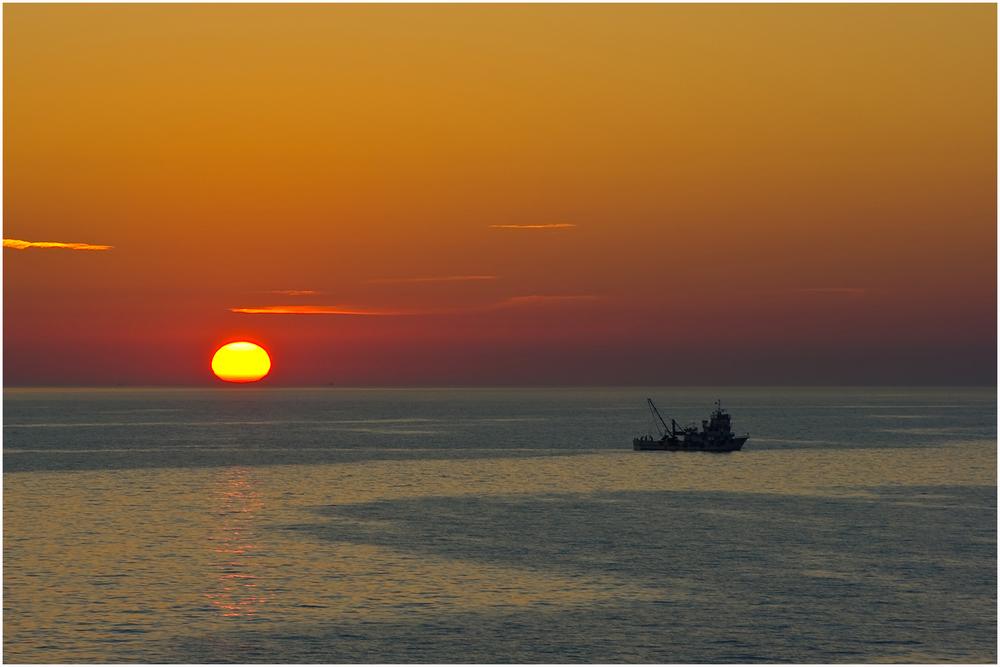 Sonnenuntergang in der Ägäis ...