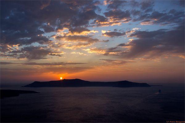 Sonnenuntergang in der Caldera ...
