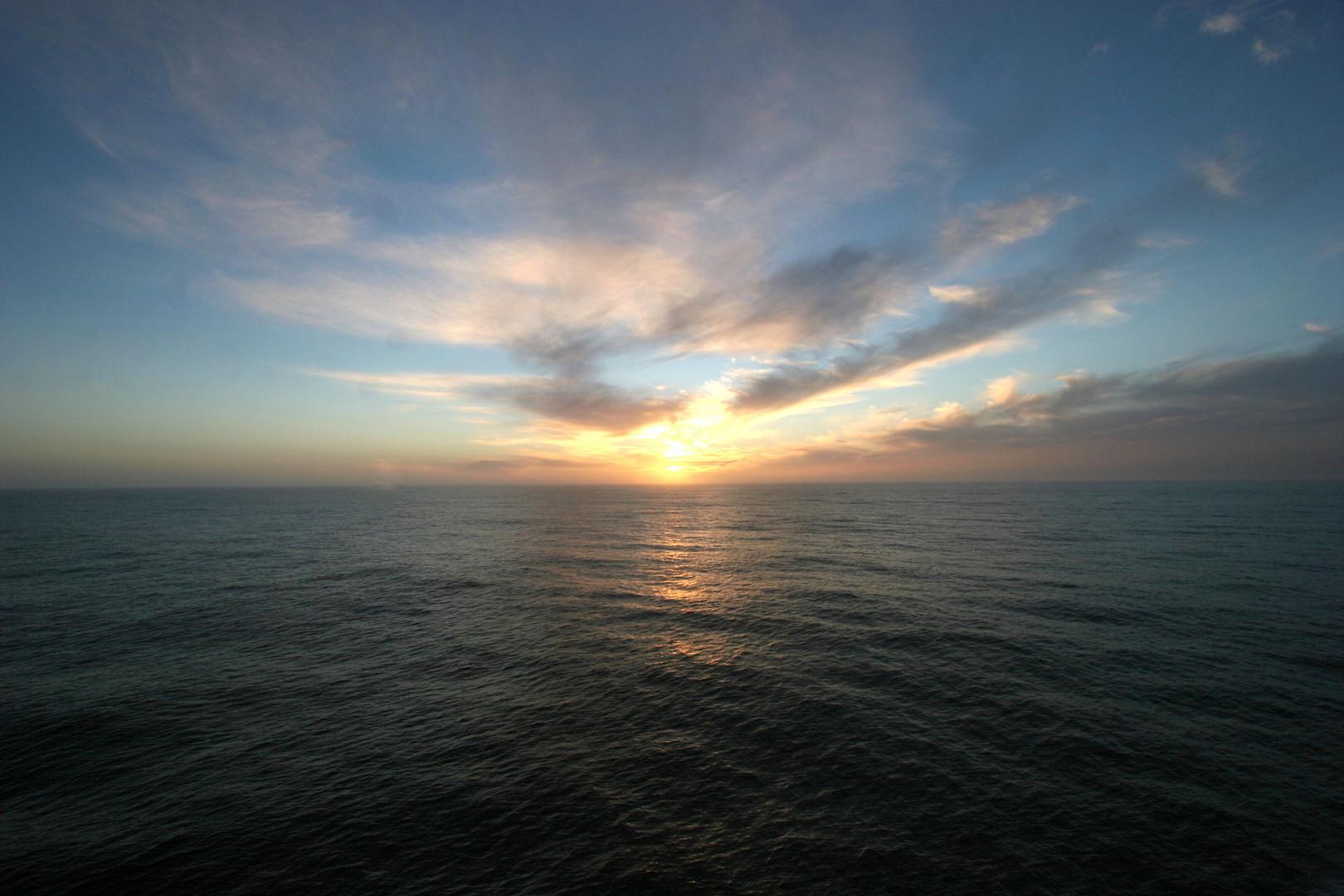 Sonnenuntergang in der Drake Passage