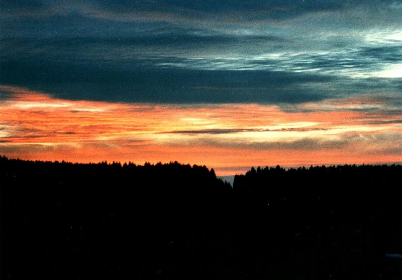 Sonnenuntergang in der Eifel 1