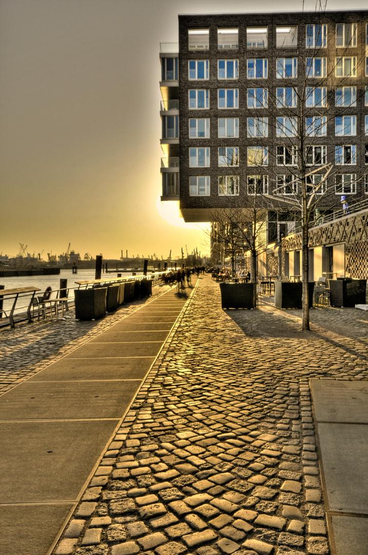 Sonnenuntergang in der Hafen-City