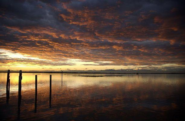 Sonnenuntergang in der Lagune